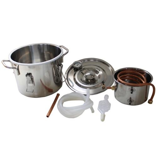 Нержавеющая сталь Алкогольная вода Медь Home Очищающий дистиллятор 10L