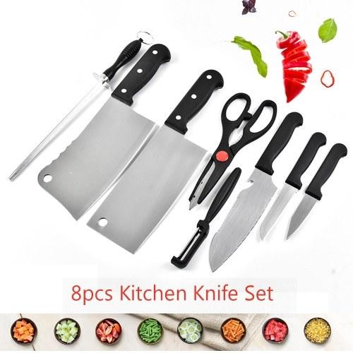 8pcs Kitchen Knife Set Chef Knives Fruit Knife