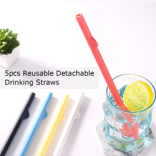 5pcs Reusable Drinking Straws Cocktail Straws Detachable Straw Portable Drinking Straws for Yeti