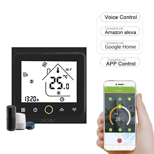 MOES 5A Wi-Fi Smart Thermostat Temperature Controller APP Control Compatible with Alexa / Google Home Water / Gas Boiler for Home
