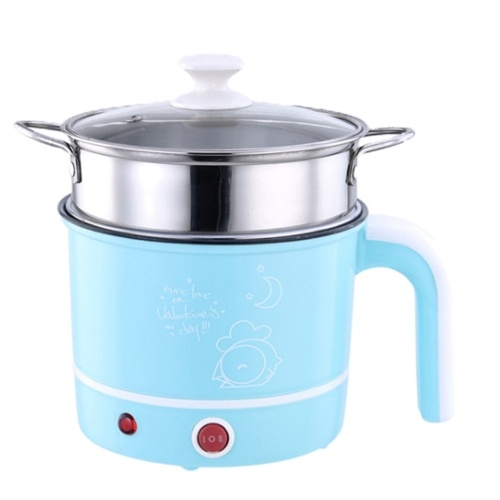 1.8L Capacity Mini Electric Cooking Pot Rapid Noodles Cooker with Food Steamer