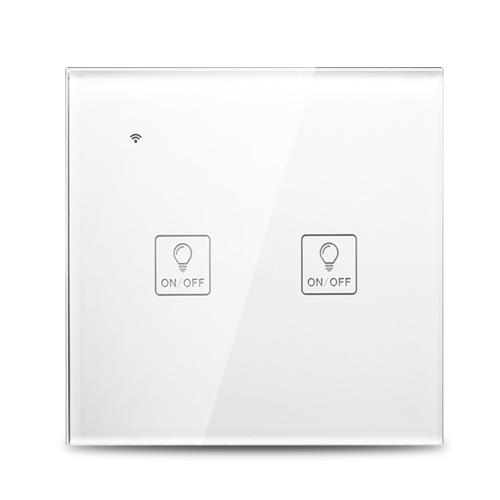 Wi-Fi Умный настенный сенсорный выключатель Стеклянная панель Голосовое управление Совместимо с Alexa Google Home фото