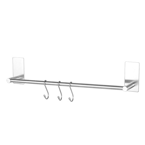 Towel Rack Towel Shelf Stainless Steel Towel Bar Hanger Storage Organizer Stainless Steel Wall Mount Bathroom Towel Bar