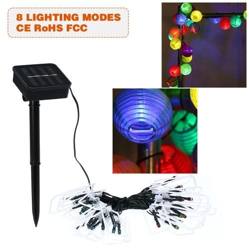 Luces de cuerda solar 19.7ft 30 LED Lantern Rope Light