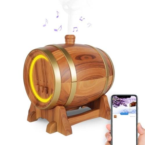 Diffusore di aromi creativo e intelligente a botte di vino elettrico con altoparlante BT