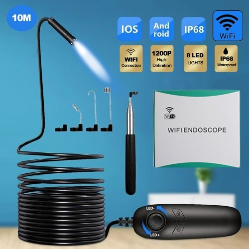 1200P Wireless Endoscope IP68 Wasserdichte wiederaufladbare USB-Inspektionskamera