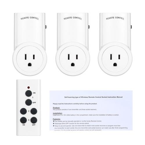 Tomada de controle remoto comutador de luz sem fio Tomada