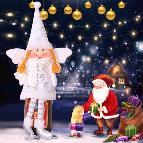 Copertura per bottiglia di vino natalizio Creativo ciondolo per albero di natale con ciondolo per albero di natale Decorazione natalizia per la decorazione della festa di Natale