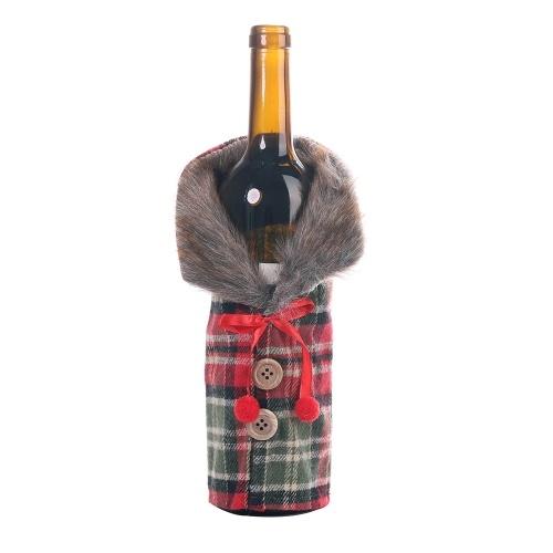 Tapas de botellas de vino decoraciones navideñas