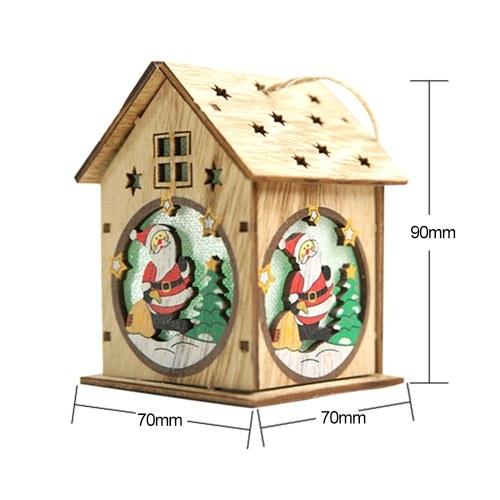 Christmas Decoration DIY Luminous Cabin Snow House with Light