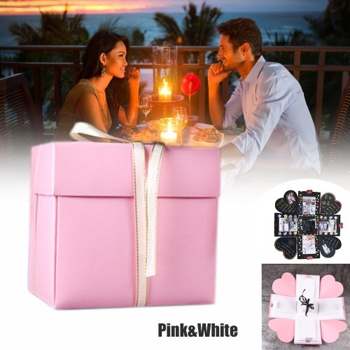 DIY Warm Surprise Love Explosion Box Scrapbook DIY Photo Album Favor Box for Anniversary Birthday Gift фото