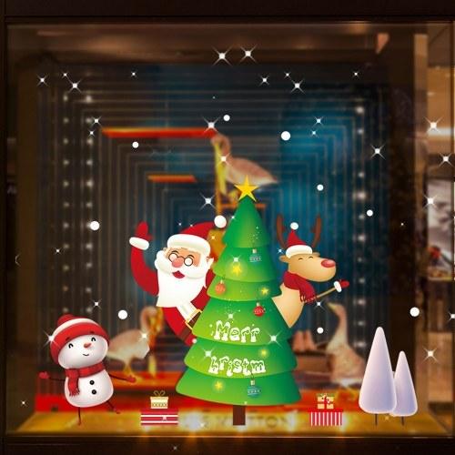 Color Christmas Sticker Car Glass Sticker Christmas Hanging Drop Window Sticker Home Decoration Decal