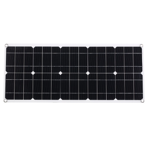 Solar Panel with 2 USB Interface Car Battery Charger Kits  (for 100W devices)