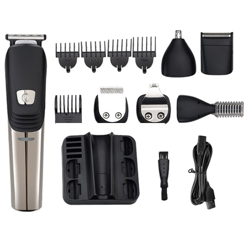6-in-1 Hair Clipper Electric Hair Trimmer Rechargeable Multifunctional Men Hair Cutting Machine
