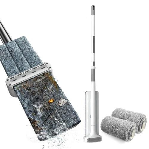 Trapeador de microfibra Sistema de limpieza de pisos Almohadillas lavables Trapeadores de polvo reutilizables con suave (almohadillas de trapeador de 2 piezas)