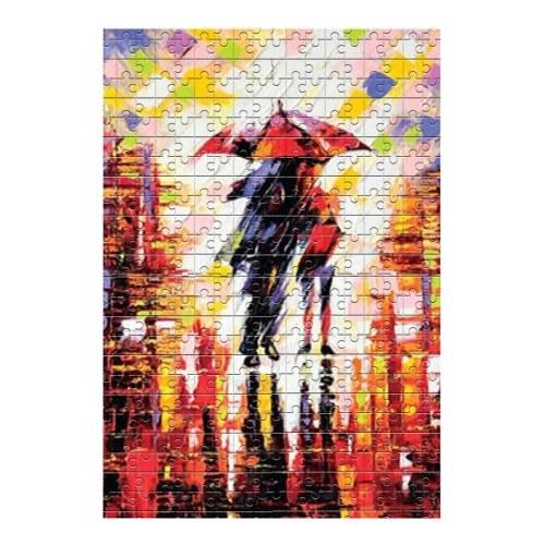1000PCS Rompecabezas 70 * 50cm / 27 * 20 pulgadas Patrón de noche lluviosa Mini rompecabezas para adultos y niños Entretenimiento Regalo creativo Juguetes de bricolaje para la decoración del hogar