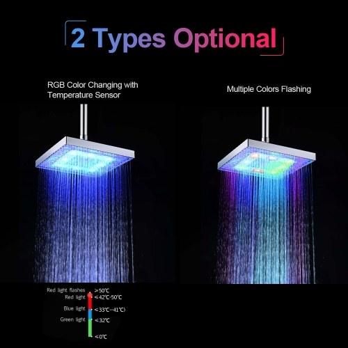 LED Rainfall Shower Head for Bathroom