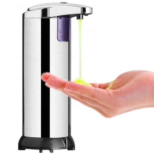 290ML Stainless Steel IR Sensor Touchless Waterproof Automatic Liquid Soap Dispenser for Kitchen Bathroom Home