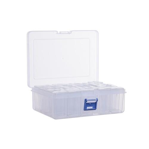 42 Grids Clear Diamond Storage Box Plastic Storage Containers