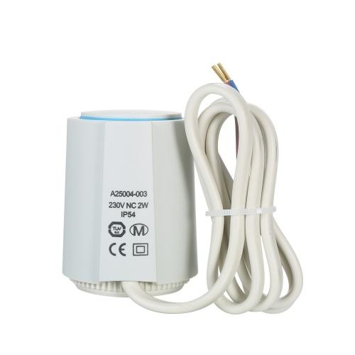 Actuador térmico NC 230V para colector de calefacción por suelo radiante Actuador eléctrico normalmente cerrado