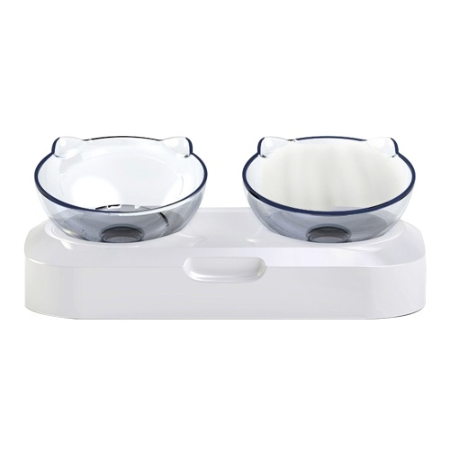 Ciotola per alimentazione animali domestici Design inclinato di 15º per la protezione del collo Ciotole singole o doppie rialzate