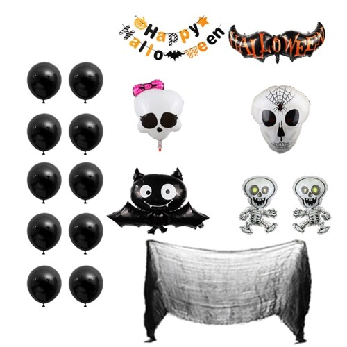 Kit de banner de globos de Halloween de 18 piezas