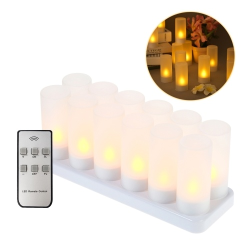 12 PCS Rechargeable Flameless Candles