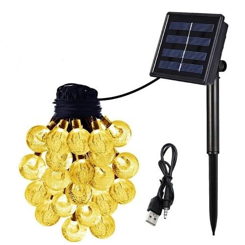 Luces de cadena de globo solar