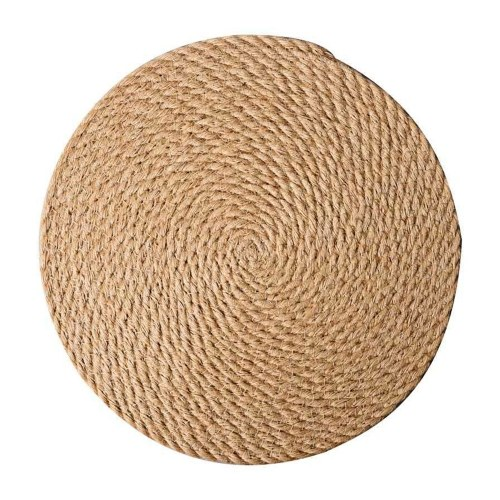 Woven Placemats 5 inch Round Braided Placemat for Dining Table Heat Resistant Anti-slid Jute Mats Table Mat for Dish Plate Pot Teapot, TOMTOP  - buy with discount