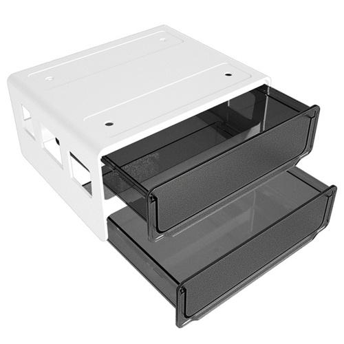 Under Desk Invisible Drawer Stationery Organizer Dormitory Desk Space-saving Storage