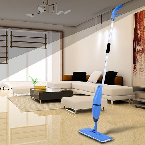 2 in 1 Household Spray and Scrubbing Mop Microfiber Magic Flat Mop Floor Sweepers One-handed Handheld Swob 360° Universal Rotating Glass Mops