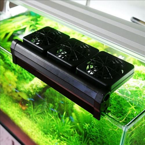 Аквариум Вентилятор охлаждения Fish Tank Холодный Ветер Chiller Регулируемый 2 уровень Wind 100-240