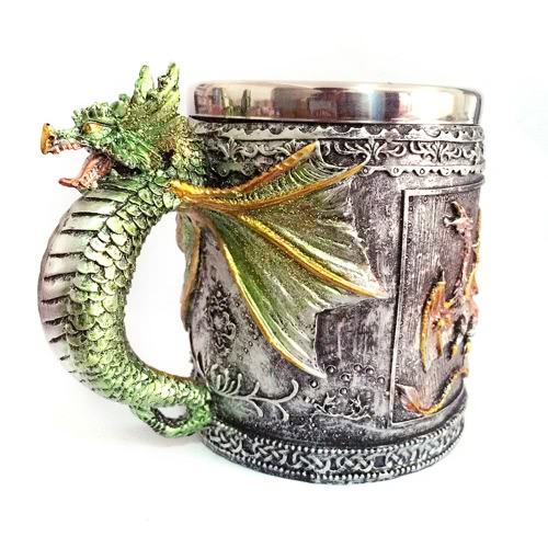 Hot Unique High Quality Stainless Steel Royal Dragon Coffee Beer Milk Mug Cup Tankard Novelty for Decoration Gift