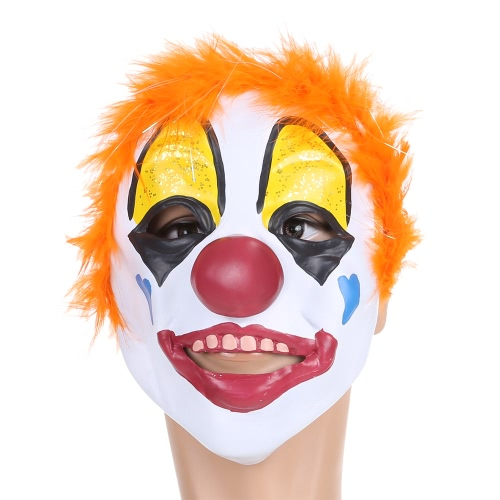 Masque Festnight Adulte Latex Clown avec Cheveux courts Halloween Masquerade Cosplay Costume Stage Show