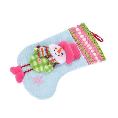Cute Snowman/Santa Claus/Reindeer Christmas Gift Candy Bag Present Stocking Sock Xmas Tree Ornament Pendant Christmas Decoration Supply