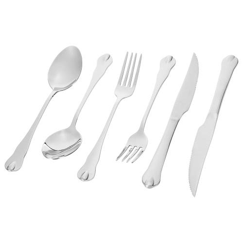 6шт высокого класса Western Посуда 2 Набор из нержавеющей стали Столовые приборы Хорошее качество Вилка Нож Ложка Посуда