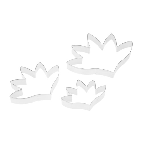 2PCS Stainless Steel Fondant Surfinia Petunia Flower Petal Cutter Set Gum Paste Mold Baking Cake Decorating Tools Sugarcraft Cookie Cutter