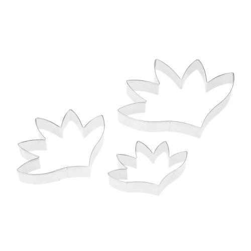 3шт из нержавеющей стали Fondant Tuberose Лепесток Цветок Cutter Set Gum Паста для литейной формы для выпечки торта украшая инструменты Sugarcraft Cookie Cutter