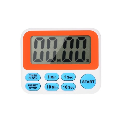 LCD Digital Kitchen Count UP/Down Timer Clock Loud Alarm Cooking Timing Tool