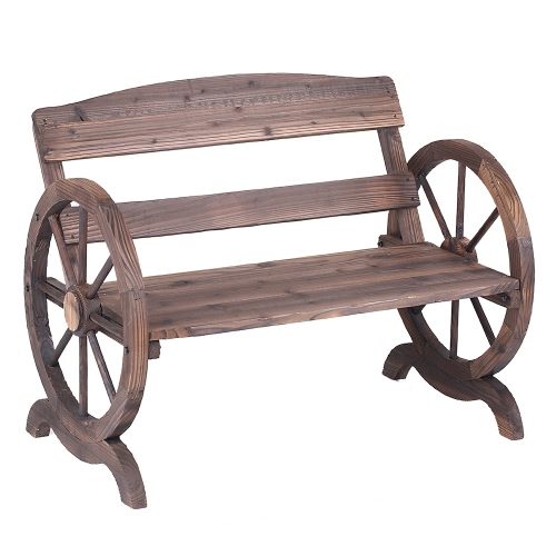 iKayaa 2 Seater Outdoor Patio Garden Wood Bench
