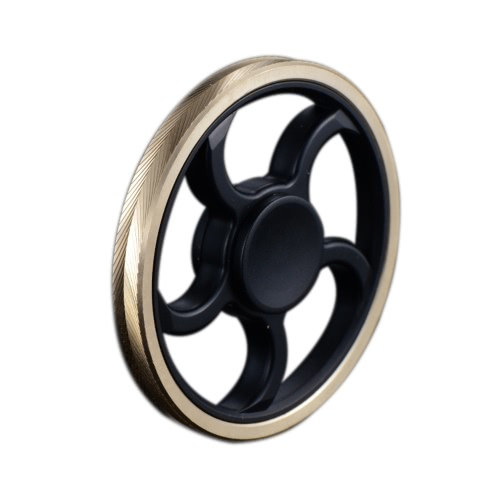 Steering Wheel Shaped New Style Mini Round Hand Finger Spinner Fidget EDC Widget Focus Toy for Killing Time Relieve Stress Anxiety ADHD Boredom High Speed