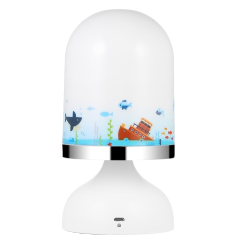 Portable USB Rechargeable Vibration Sensor Baby Room Hanging LED Night Light Nursery Bedroom Lamp Yellow Light