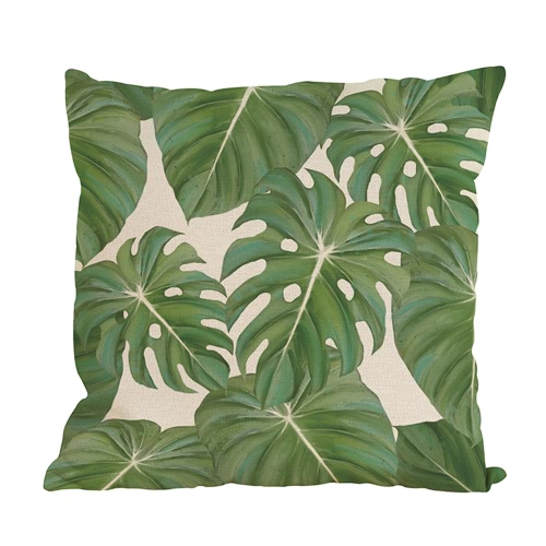 Modern Fashionable Natural Environement Wild Green Forests Fresh Flourish Exuberant Tropical Plants Leaves Vigorous Life Healthy Vitality  Cushion Throw Pillow Covers Pillowcases Decorative for Home Office Sofa Car Seat Gifts
