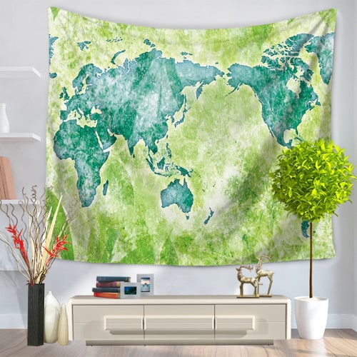 130*150cm Polyester Home Wall Hanging Decor Art Foreign World Map Exotic Printing Tapestry Beach Throw Towel Blanket Picnic Carpet Bedspread Tablecloth