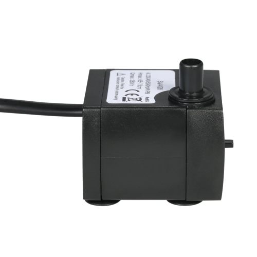 150L/H 2W Submersible Water Pump for Aquarium Tabletop Fountains Pond Water Gardens and Hydroponic Systems with One Nozzle 4.9ft(1.5m) Power Cord AC220-240V