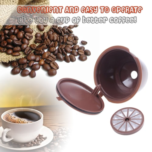 3Pcs Nachfüllbare Nescafe Wiederverwendbare Nachfüllkapsel Eco-Friendly Single Kaffee Filter Pods Kompatibel mit Nescafe Dolce Gusto Brewers