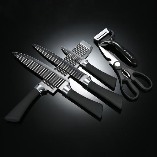 TOMTOP / EVERRICH 6pcs/set Kitchen Knife Set Professional Chef Knives Sharp Knives  Kitchen Knife Fruit Knife With Storage ...