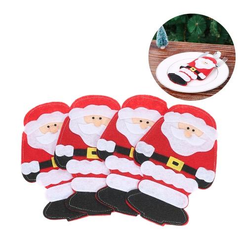 4 szt. Zestaw Santa Claus Christmas Holder Sztućce