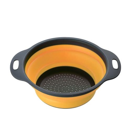 Новый кухонный складной силиконовый коллайдер Складной фруктовый комплект растительного фильтра Складные сетки Корзина для инструментов Мойка для стирки