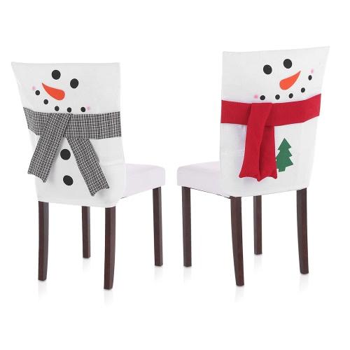 Coperture posteriori della sedia di Natale 2pcs / set